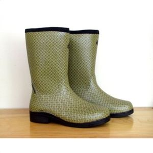 LaCrosse Green Floral Cape Cod Wellies